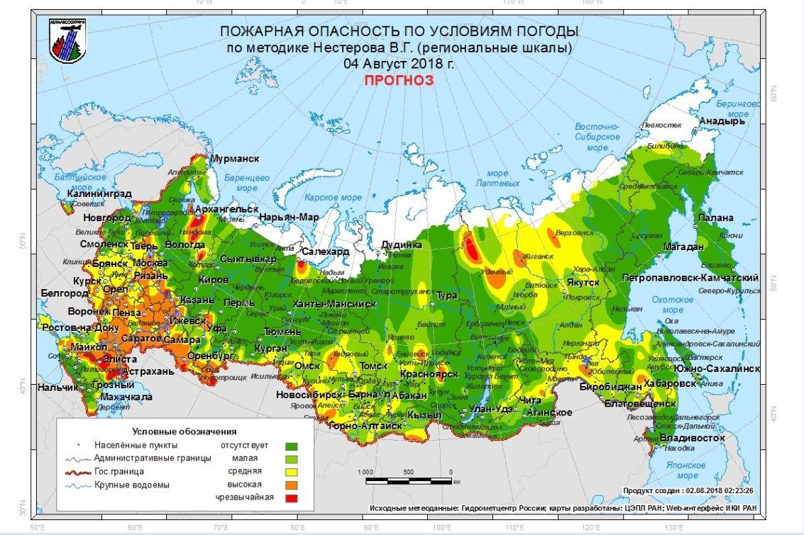 Погода на август в Москве и Московской области 2018